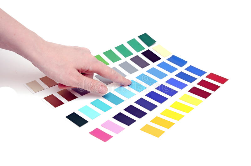 Download Choosing Color From Color Scale Stock Photo - Image: 22592664
