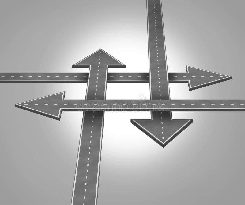 Choosing Direction stock illustration