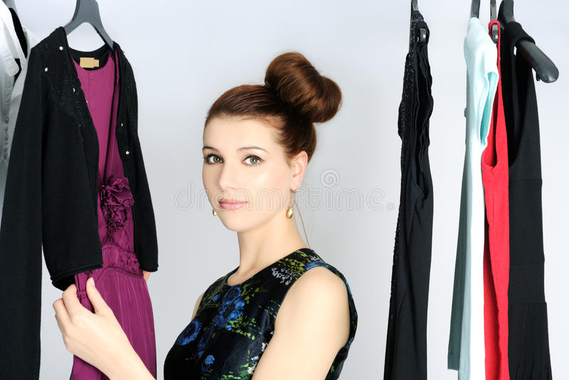 Download Choosing dress stock image. Image of pretty, model, choosing - 28645309