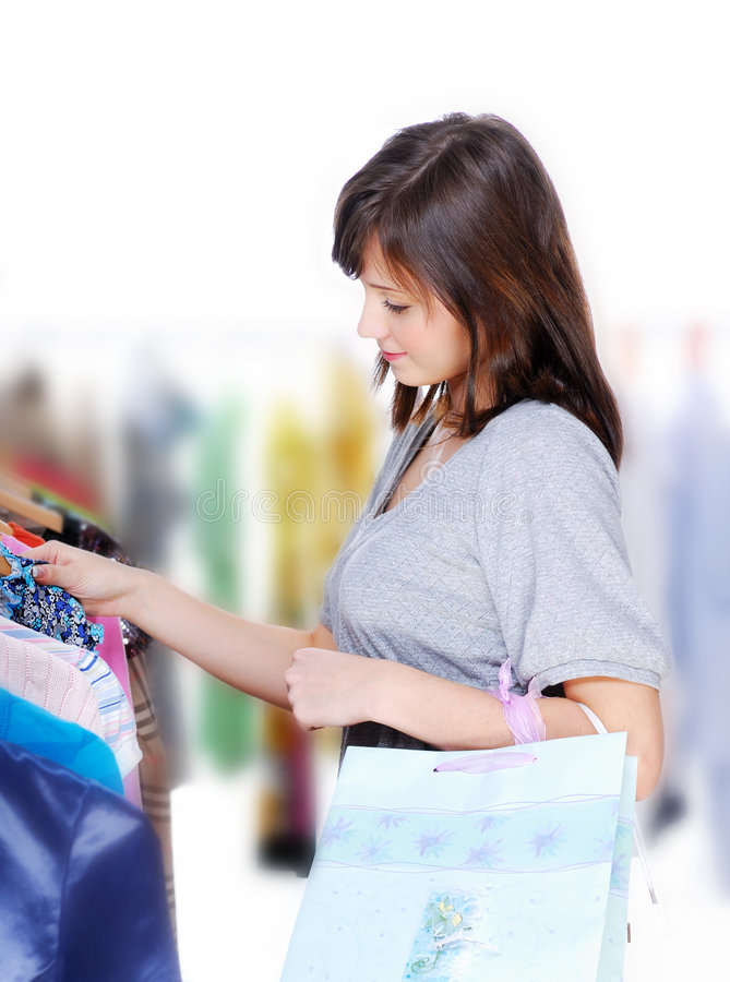 Download Choosing the dress stock image. Image of buying, human - 7570227