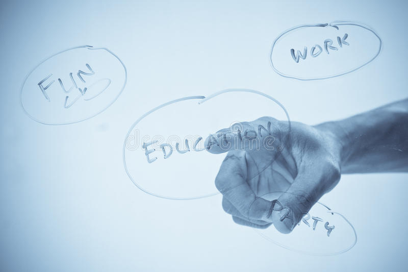 Choosing Education royalty free stock image