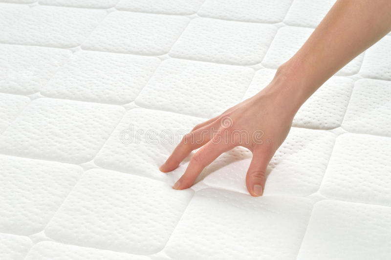 Download Choosing Mattress And Bed. Stock Photo - Image: 43971621