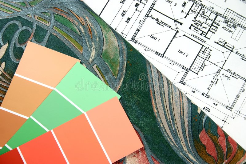 Choosing New Home Colours royalty free stock photo