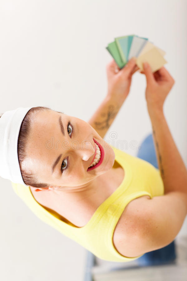 Download Choosing paint color stock image. Image of attractive - 28054651