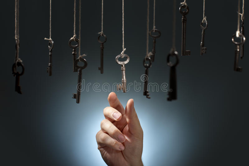 Download Choosing the right one stock photo. Image of keys, alternatives - 27222998