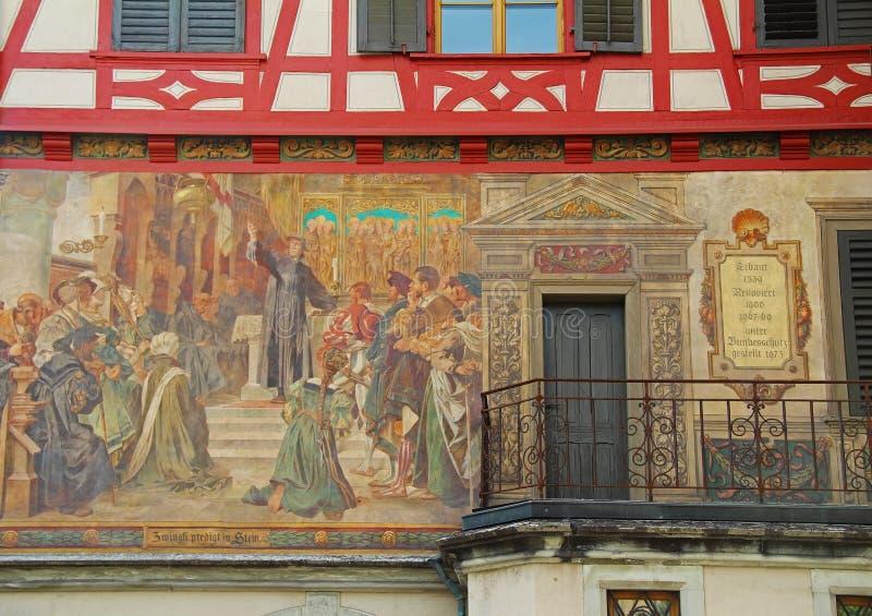 Chope en grès-être-rhein, Suisse Centre de ville médiéval photos libres de droits
