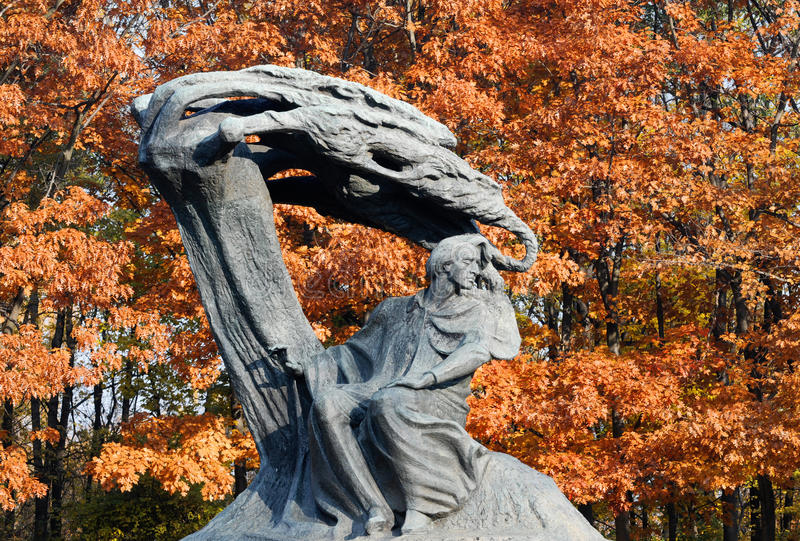 Chopin monument royalty free stock photography