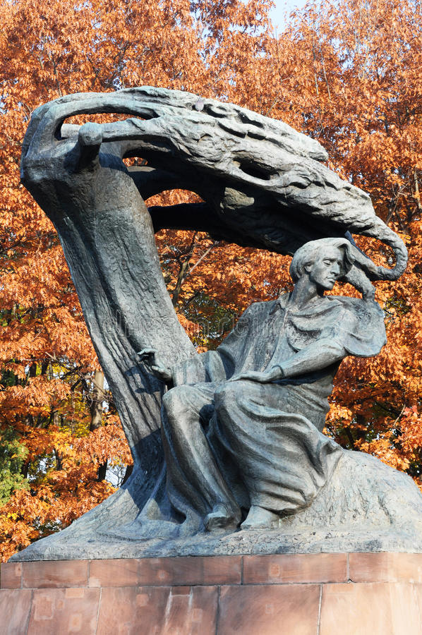 Chopin monument stock photography