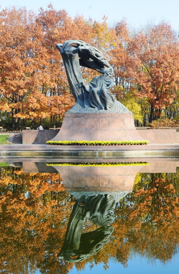 chopin monument royaltyfria bilder