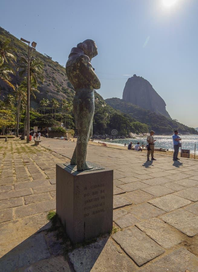 Chopin Monument in Rio stock photo