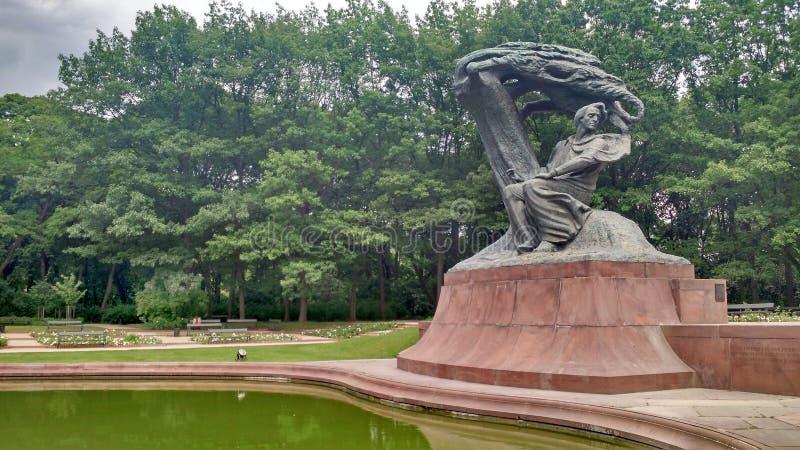 CHOPIN MONUMENT - WARSZAWA - POLEN royaltyfri bild
