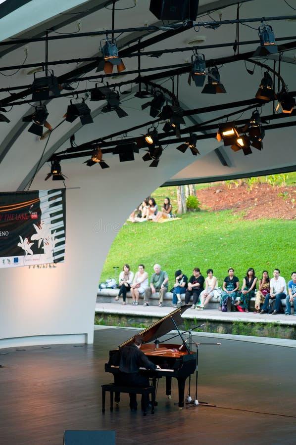 Chopin Piano Concert at Botanic Garden, Singapore stock photos