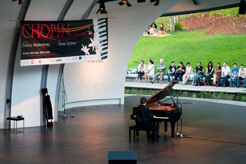 Chopin Piano Concert at Botanic Garden, Singapore stock image
