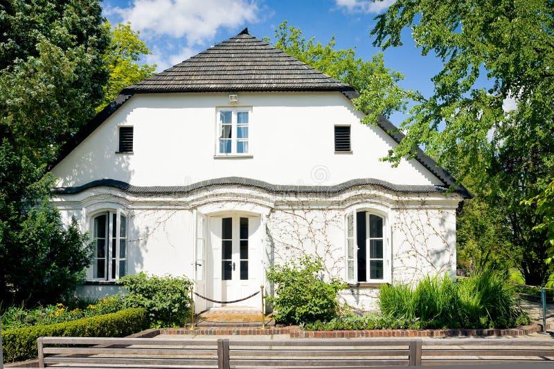 Chopins födelsehus i Zelazowa arkivfoton
