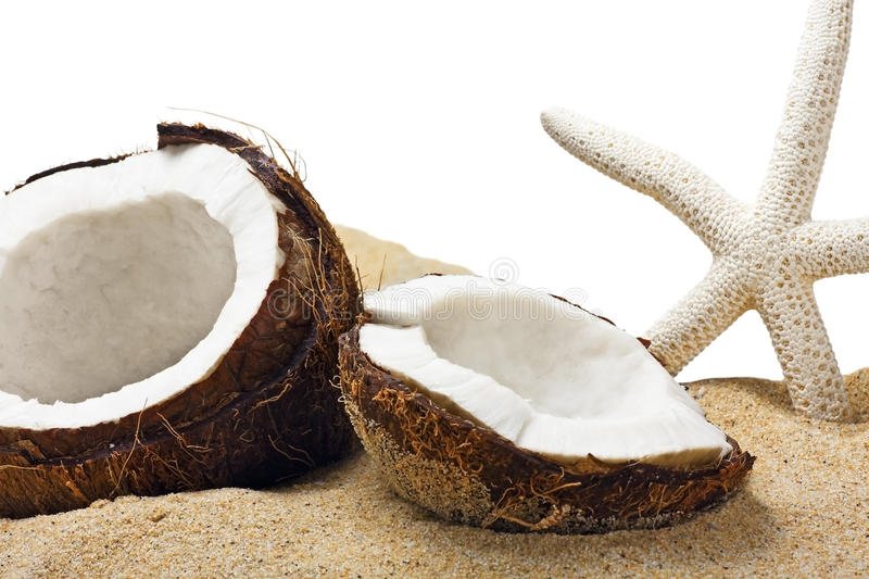 Download Chopped Coconut In The Sand Stock Image - Image: 31435291