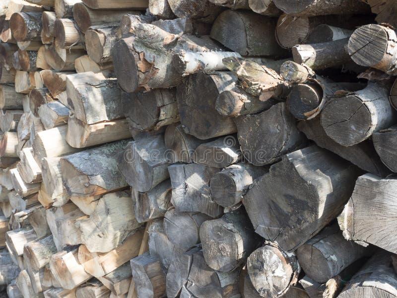 Chopped fire wood stock image