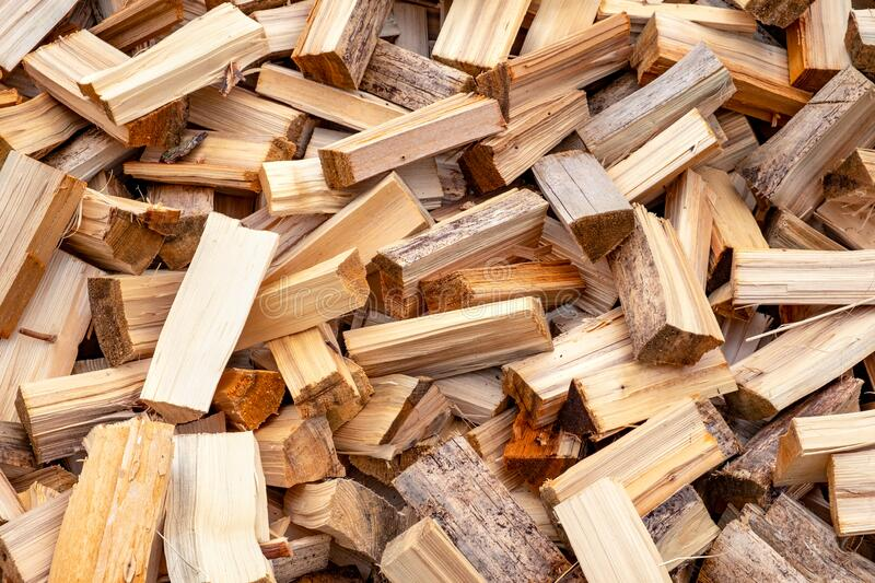 Chopped firewood stock royalty free stock photo