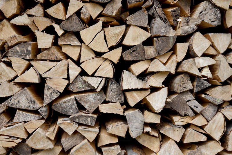 Chopped log pile royalty free stock image