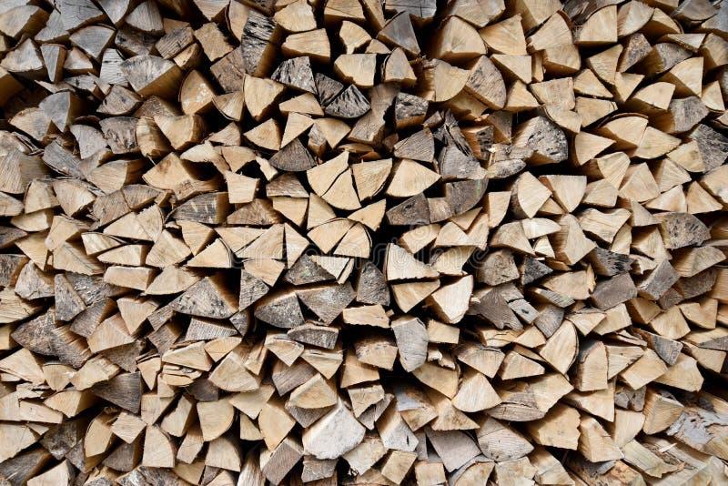 Chopped log pile royalty free stock photo