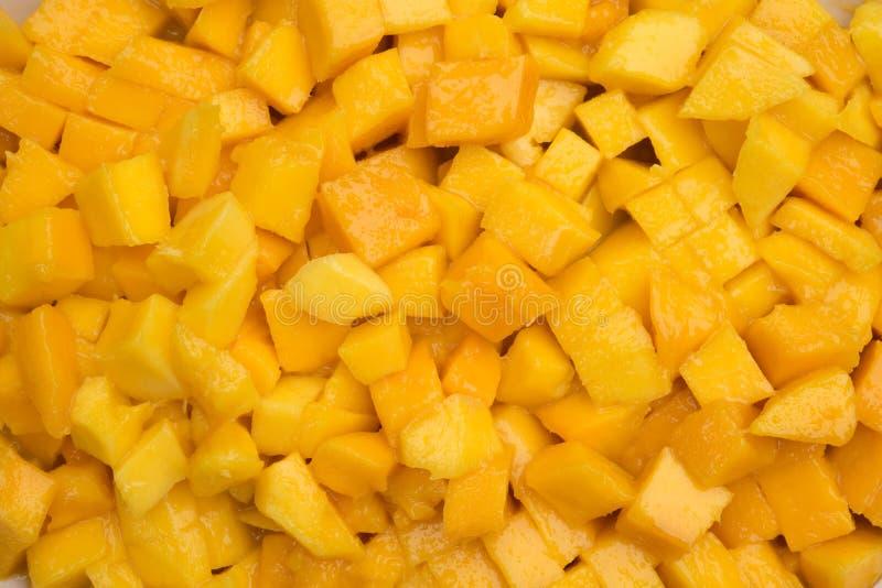 Chopped mango royalty free stock photos