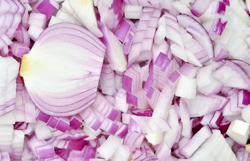 Chopped Onion. Textured Background of Chopped Onion royalty free stock photography