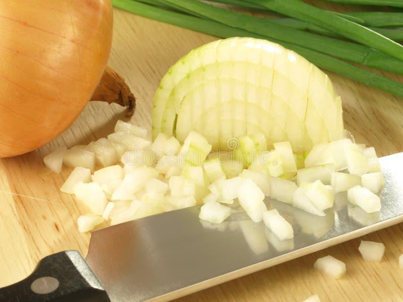Chopped onion royalty free stock photo