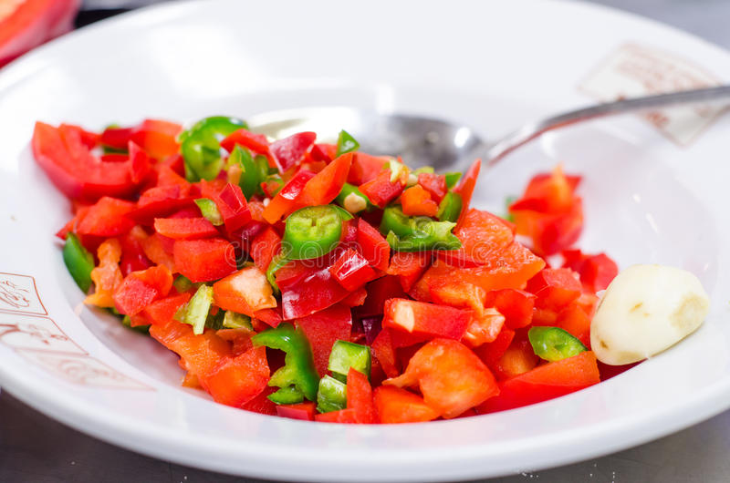 Download Chopped pepper stock image. Image of vegetables, plate - 29426157