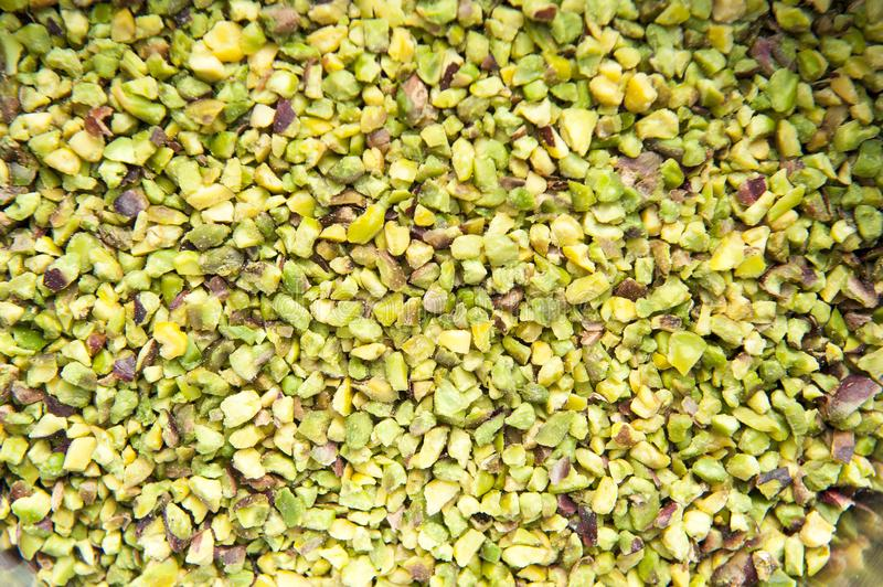 Chopped pistachio royalty free stock photography