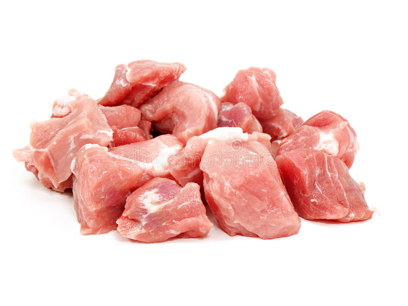 Chopped pork meat royalty free stock photography