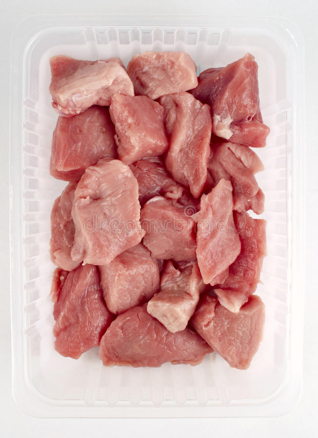 Download Chopped pork meat stock image. Image of butcher, white - 18482031