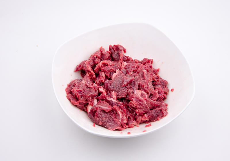 Chopped Raw beef stock image