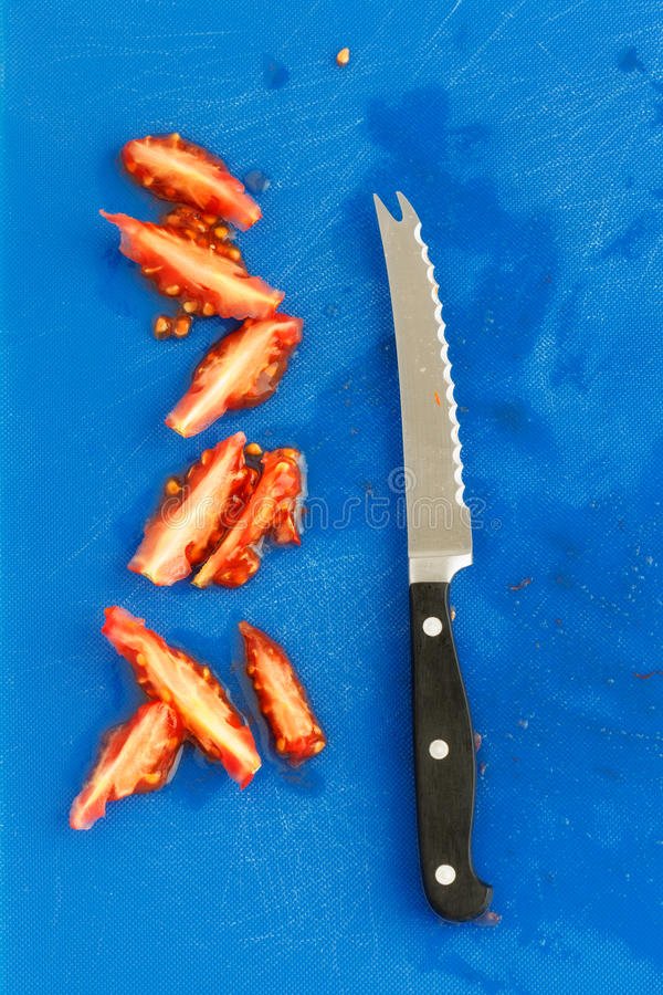 Download Chopped tomatoes stock photo. Image of above, kitchen - 26779468