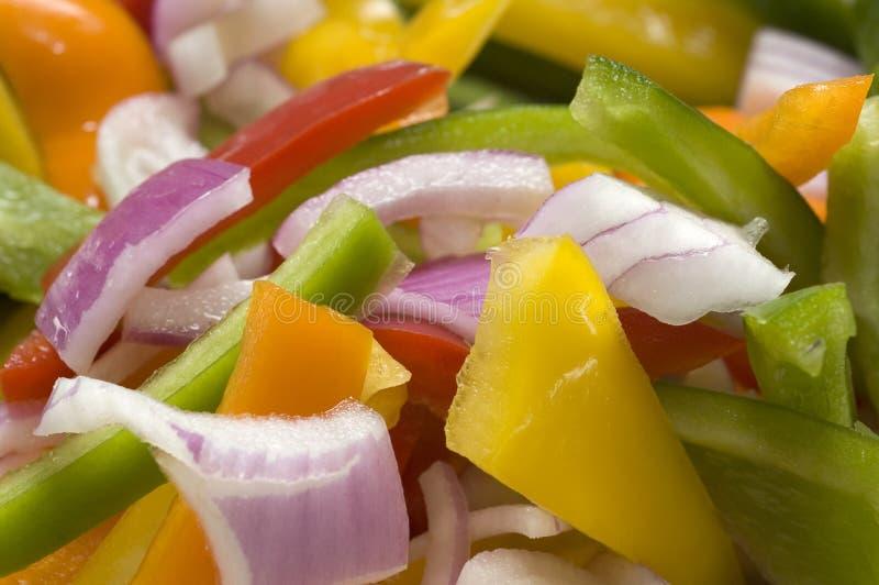 Chopped Veggies royalty free stock photos