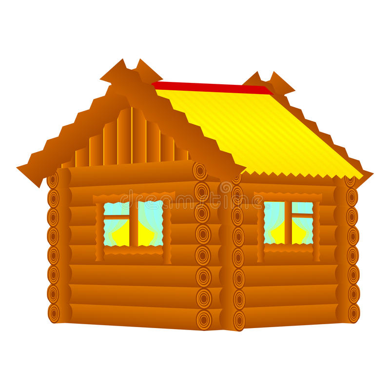 Download Chopped Wood House Cartoon Stock Vector Image Of Roof