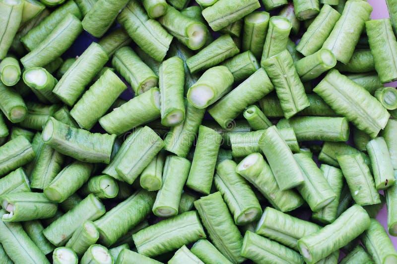 Chopped yard long bean stock images