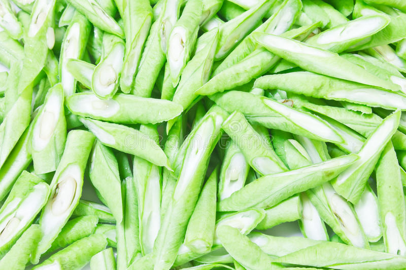 Chopped Yard long bean stock photography