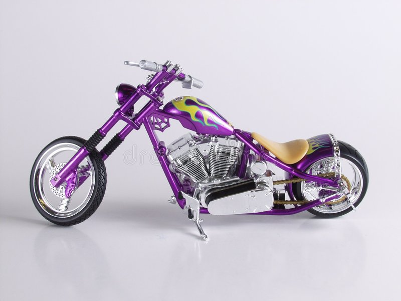 Chopper 2. Image of a toy chopper royalty free stock photo