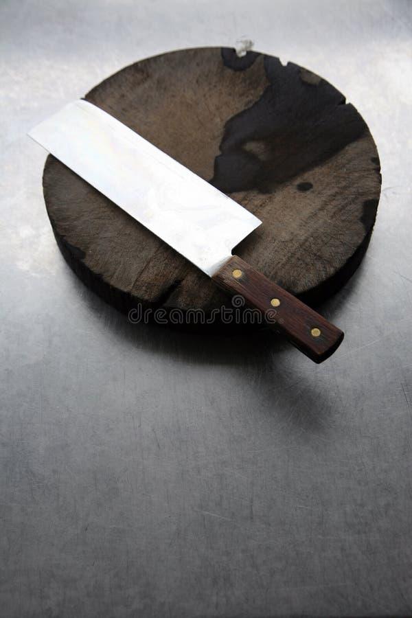 Free Chopper And Chopping Block Stock Image - 6015111