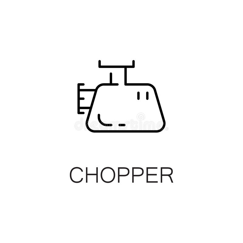 Chopper flat icon or logo for web design. stock illustration