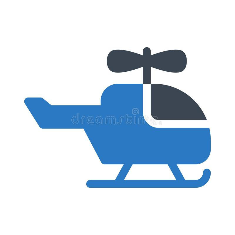 Chopper glyph color flat vector icon royalty free illustration