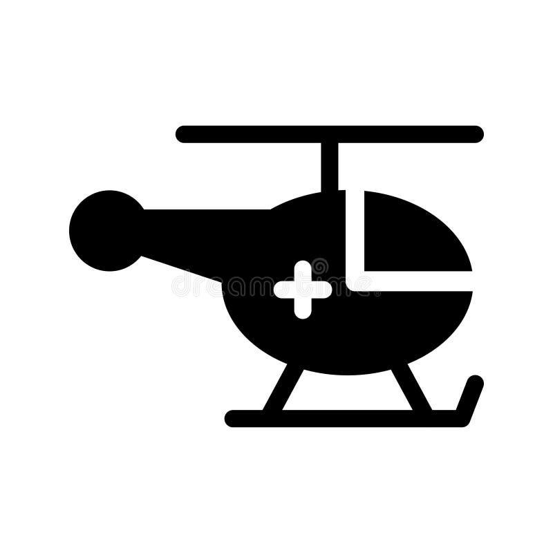 Chopper glyph vector icon stock illustration