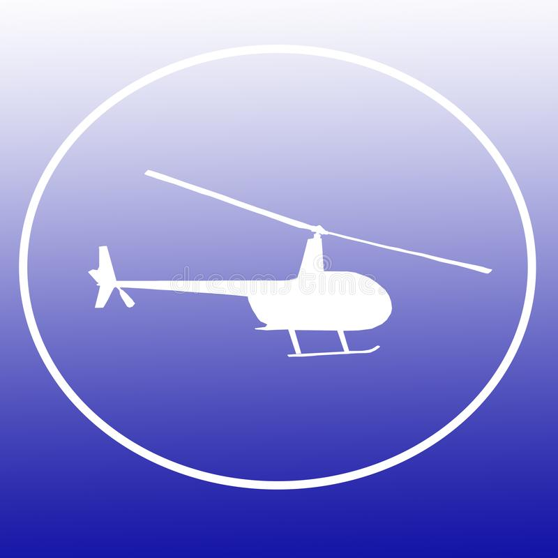 Chopper Helicopter Logo Banner Background-Bild vektor abbildung