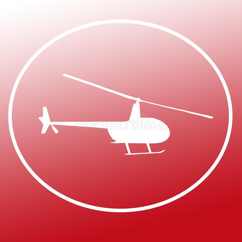 Chopper Helicopter Logo Banner Background bild vektor illustrationer