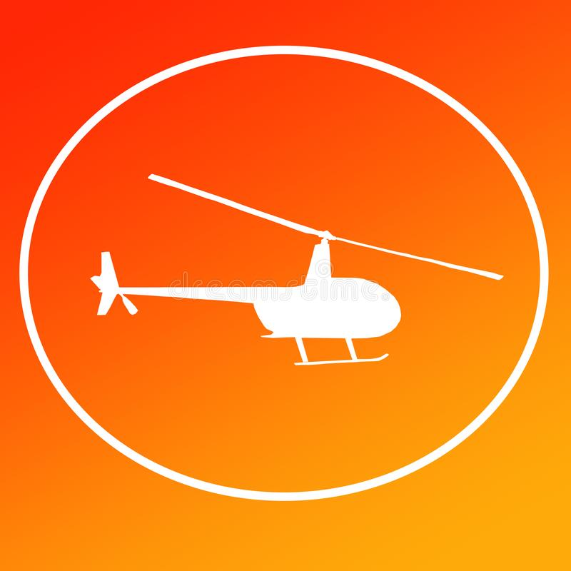 Chopper Helicopters Logo Banner Background-Bild vektor abbildung
