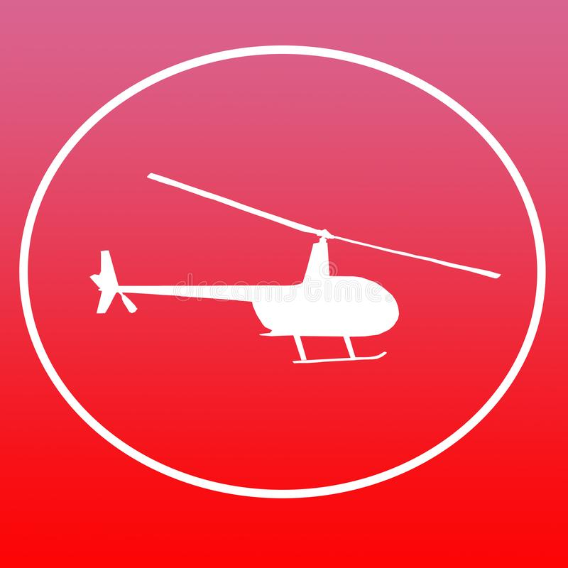 Chopper Helicopters Logo Banner Background-Bild vektor abbildung