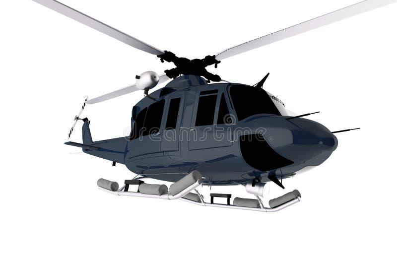 Chopper Isolated blu scuro illustrazione di stock