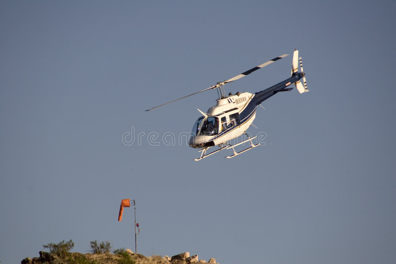 Chopper Landing stock images