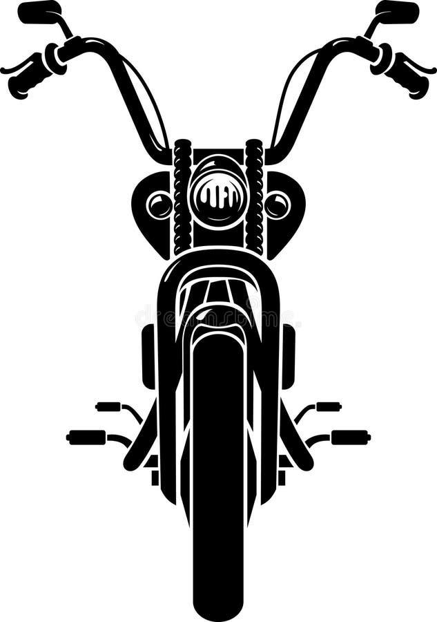 Chopper Motorcycle Front Wheel royalty illustrazione gratis