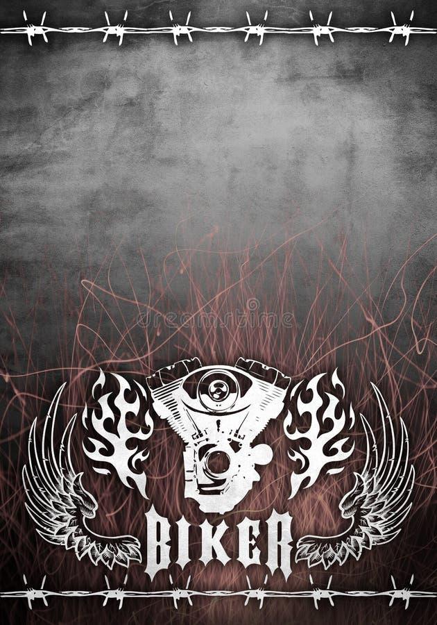 Chopper motorcycle grunge poster - card design royalty free illustration