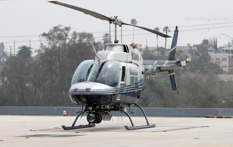 Chopper parked stock image